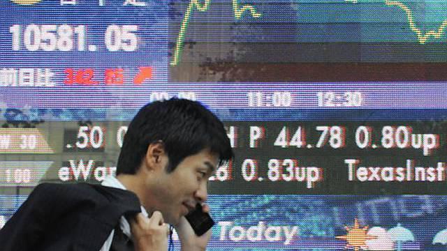 Der Nikkei-Index kletterte nach oben