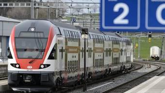 Strecke Wettingen-Olten mit zwei neuen Doppelstockzügen (Archiv)
