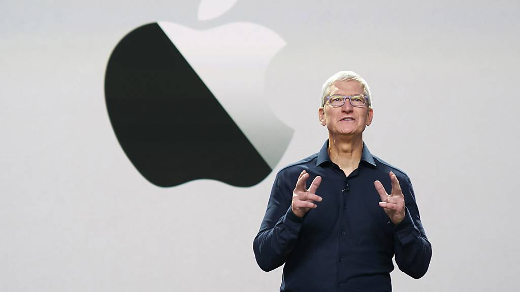 Apple-CEO Tim Cook führt das gemäss Börsenbewertung teuerste Unternehmen der Welt. (Archivbild)