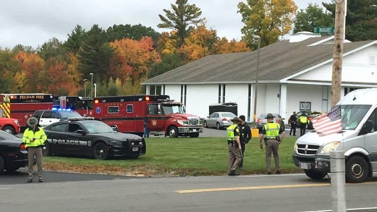 Die Schüsse fielen in dieser Kirche der christlichen Pfingstbewegung in der Kleinstadt Pelham in New Hampshire.