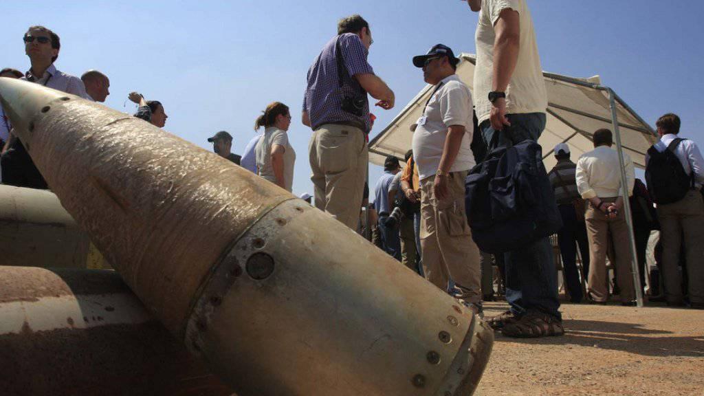 Der Einsatz von Streubomben ist weltweit geächtet. Dennoch wird solche Munition gerade in Syrien und im Jemen regelmässig eingesetzt. (Archiv)