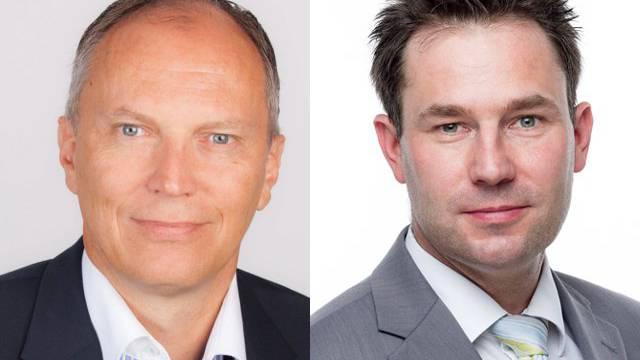 Kandidieren für den Gemeinderat: Andreas Muff (parteilos) und Fred Hofer (FDP)