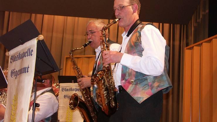 Ueli Wild (links) und Hans Binder überzeugen auch am Saxofon