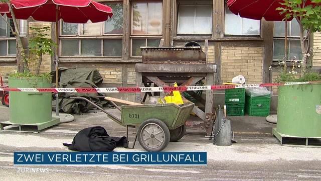 Zwei Verletzte bei Grill-Unfall