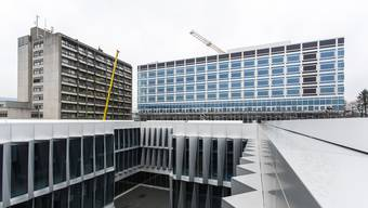 Bei den Bauarbeiten am Neubau Bürgerspital Solothurn kam es zu einem Wasserschaden. (Archiv)