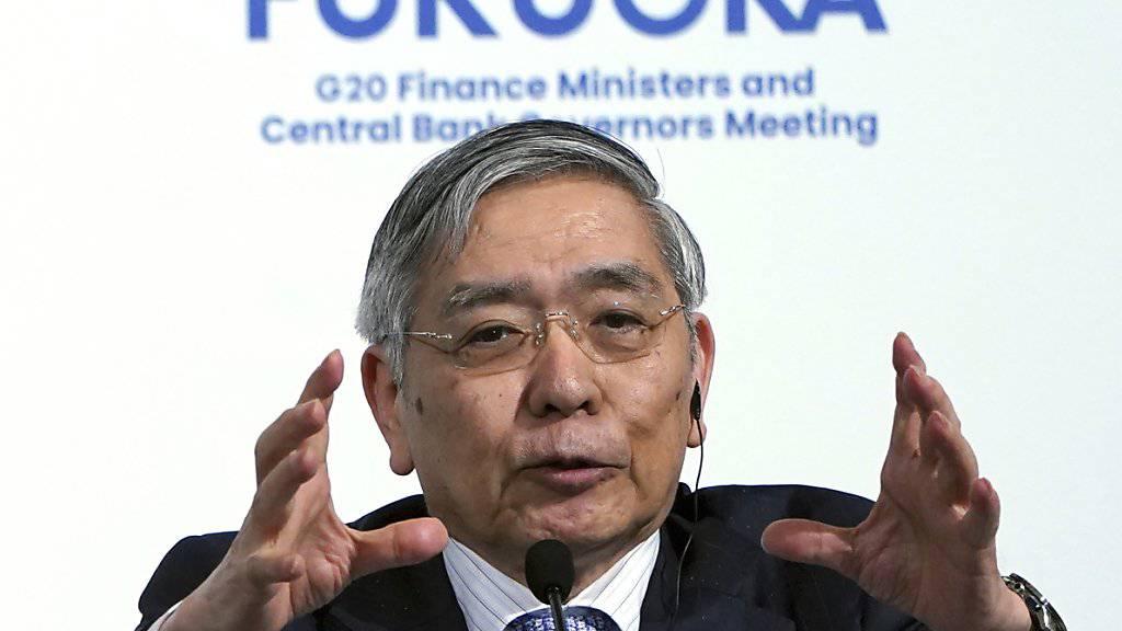 Haruhiko Kuroda ist der Chef der japanischen Notenbank (Archivbild).