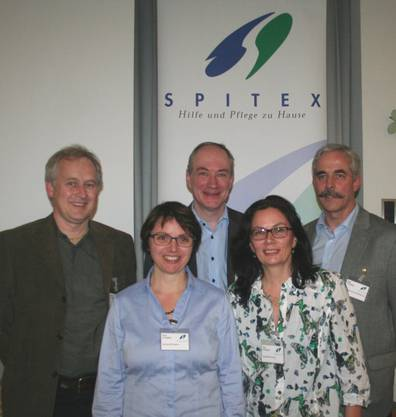 Der Vorstand v.l.n.r.: Daniel Leitner (neu), Susanne Gutjahr (Ressort Aktuariat), Dominik Rehmann (Ressort Finanzen), Karin Schmid (Ressort Qualität), Claude Dubois (Präsident).
