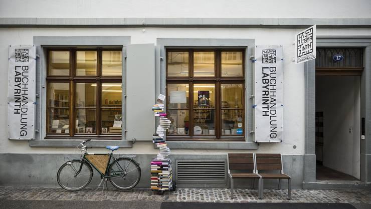 Die Buchhandlung Labyrinth am Nadelberg.