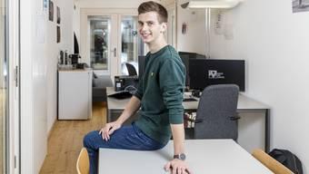 Hier ist Philipp Persano im Atelier seiner Firma auf dem Fogo-Areal in Zürich Altstetten.