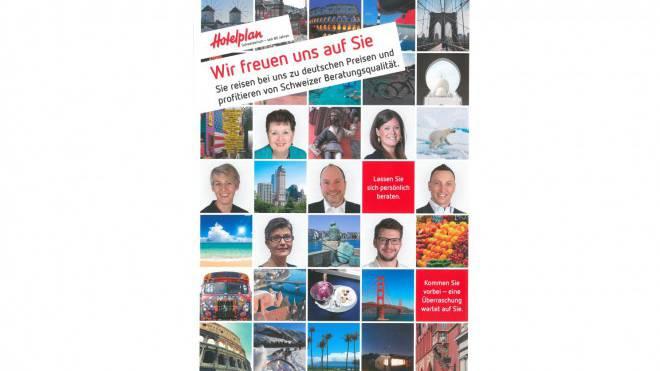 Der Flyer von Hotelplan.