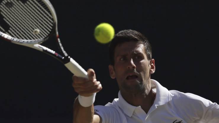 Novak Djokovic steht in Wimbledon in den Achtelfinals
