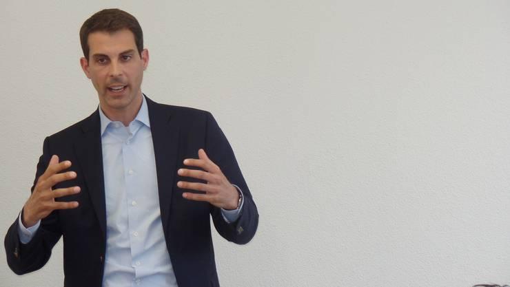 Grossrat Thierry Burkart, Nationalratskandidat und Präsident TCS Aargau