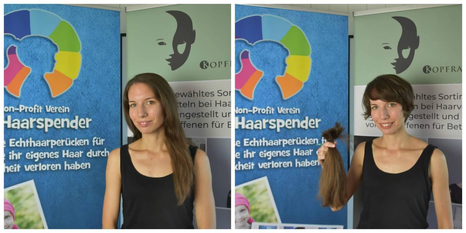 Die Frauen freuen sich sichtlich darüber, dass sie mit ihrer Haarpracht anderen eine Freude machen können. (© FM1Today)