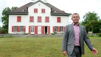 Regierungspräsident Ernst Stocker auf der Halbinsel Au. Marc Dahinden