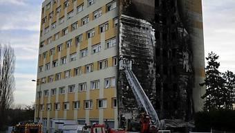 Das betroffene Hochhaus