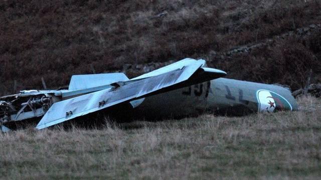Wrack der in Südfrankreich abgestürzten algerischen Maschine