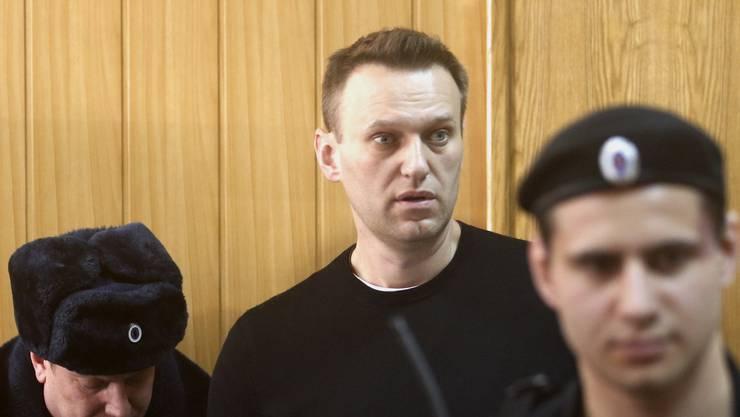 Alexey Nawalny im Charite Spital in Berlin, wo er nach seiner Vergiftung behandelt wurde. (Archivbild)