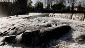 Ab hier, unterhalb des Stauwehrs in Biberist bis zur Einmündung der Emme in die Aare beim Emmespitz, soll der Hochwasserschutz verbessert werden.