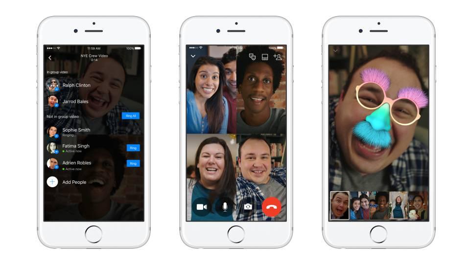 Vernetzt: Messenger neu mit Gruppen-Videochat