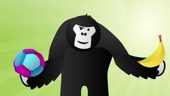 Ernährung und Bewegung: Der Gorilla auf der Smartphone-App erklärt, wies geht.zvg