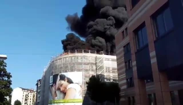 Es brennt in Olten.
