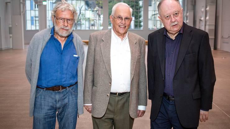 Die Lehrer von Sabine Boss,:Max Matter, Markus Gersbach, Dr. Peter Richner (v.l.)