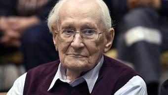 Der ehemalige Ex-SS-Mann Oskar Gröning während des Prozesses in Lüneburg. (Archiv)