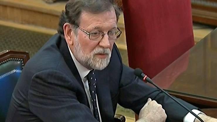 Für den ehemaligen spanischen Regierungschef Mariano Rajoy bleibt die katalanische Unabhängigkeitsbewegung ein Angriff auf die nationale Souveränität Spaniens.