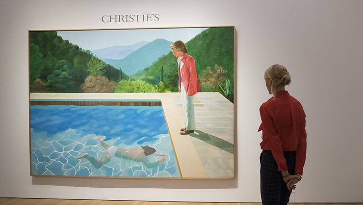 "Der Wert wird auf rund 80 Millionen Dollar geschätzt: das Gemälde des britischen Künstlers David Hockney (81) mit dem Titel ""Portrait of an Artist (Pool with Two Figures)""."