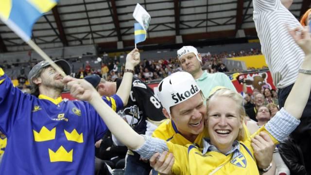 Die schwedischen Fans haben Grund zum Feiern