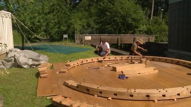 Neues Wasserrad beim Schloss Hallwil