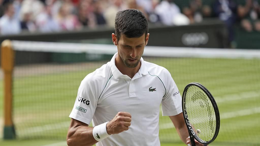 Djokovic nach Wimbledonsieg gleichauf mit Federer und Nadal