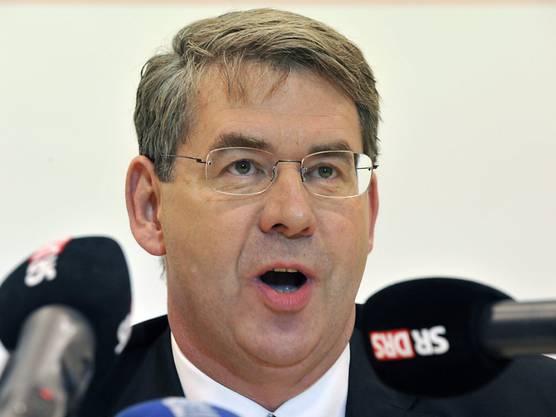 Martin Wagner an einer Medienkonferenz Ende 2010. (Archivbild)