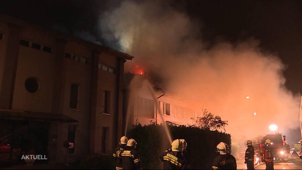 Brandursache geklärt: Zigarette löste Grossbrand in Aarburg aus