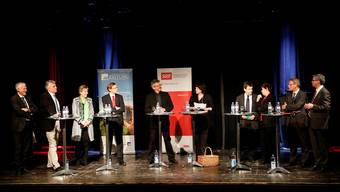 Wahlpodium in der Kulturfabrik Kofmehl in Solothurn