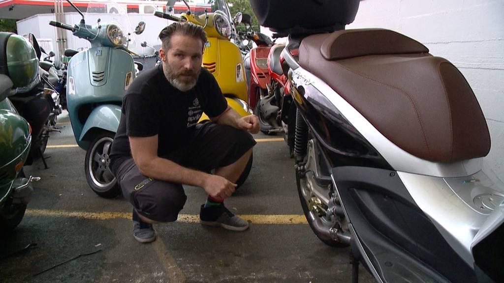 Vespa-Auspuff geklaut: Garagist hofft auf reumütige Diebe