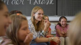Erster Schultag 2018 für Hannah Meister in Lengnau