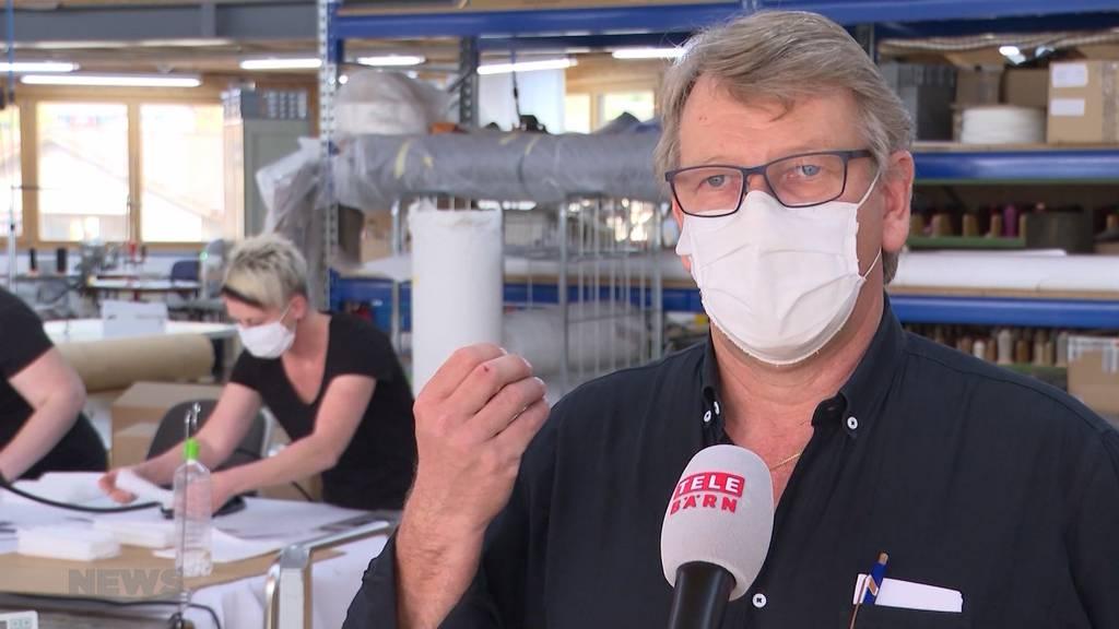 Berner Innovationsfabrik stellt recycle- und desinfizierbare Atemschutzmasken her
