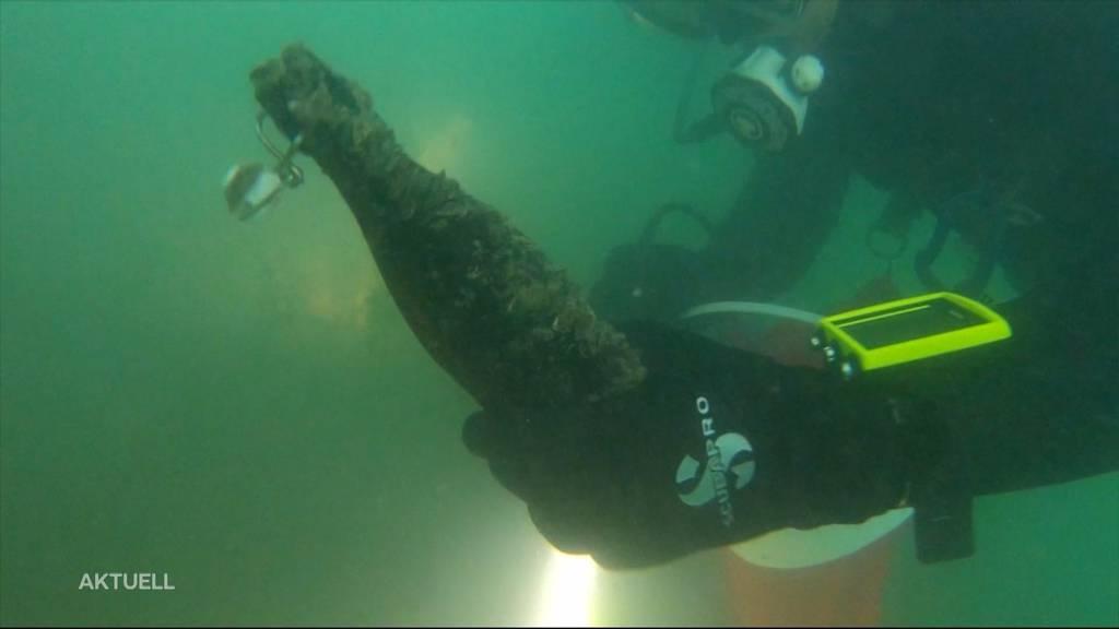 Abfalltaucher fischen auch Kuriositäten aus Hallwilersee