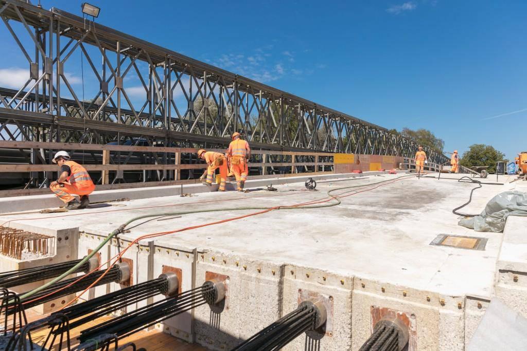 Die Baustelle auf der A13/A1 in Bildern (© Astra)