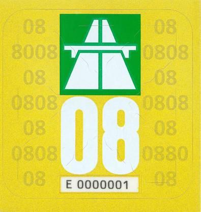 Autobahn Vignette 2008