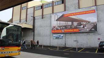 Diese Plakatwand soll nicht rückgebaut, sondern durch das Berufs- und Weiterbildungszentrum Brugg genutzt werden, so will es die Landi Wasserschloss.