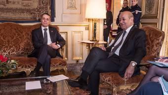 Frankreichs Aussenminister Jean-Yves Le Drian (r.) und Bundesrat Ignazio Cassis am Dienstag in Paris.