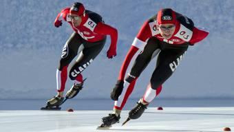 Dieses Bild gab es in diesem Winter zu selten zu sehen: Rückenprobleme verhinderten, dass Christian Oberbichler in der aktuellen Saison auf Hochtouren kam.
