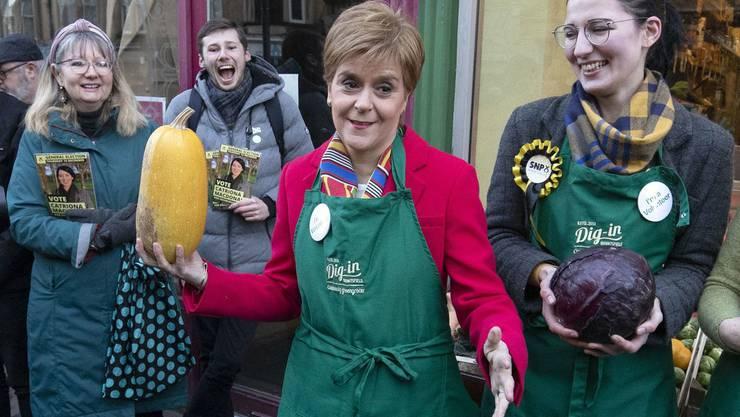 Nicola Sturgeon, die schottische Erste Ministerin und Vorsitzende der schottischen Nationalisten-Partei.