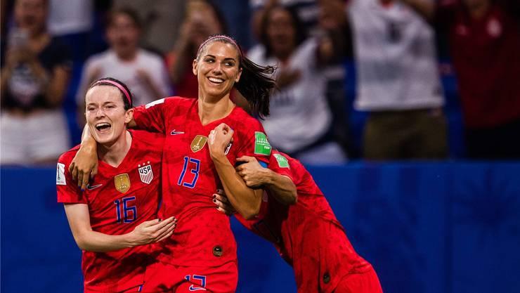 Jubeln Alex Morgan (rechts) und die USA auch im WM-Final?