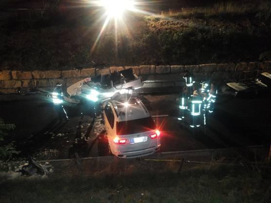 Beim Unfall krachte der BMW in einen Volvo.