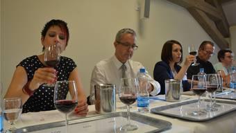 In der Jury sassen unter anderen SVP-Nationalrätin Sandra Sollberger, Regierungrat Thomas Weber und CVP-Landrätin Sabrina Corvini-Mohn (von links). zvg