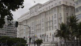 """Das berühmte Hotel """"Copacabana Palace"""" in Rio schliesst wegen des Coronavirus zum ersten Mal in 100 Jahren."""