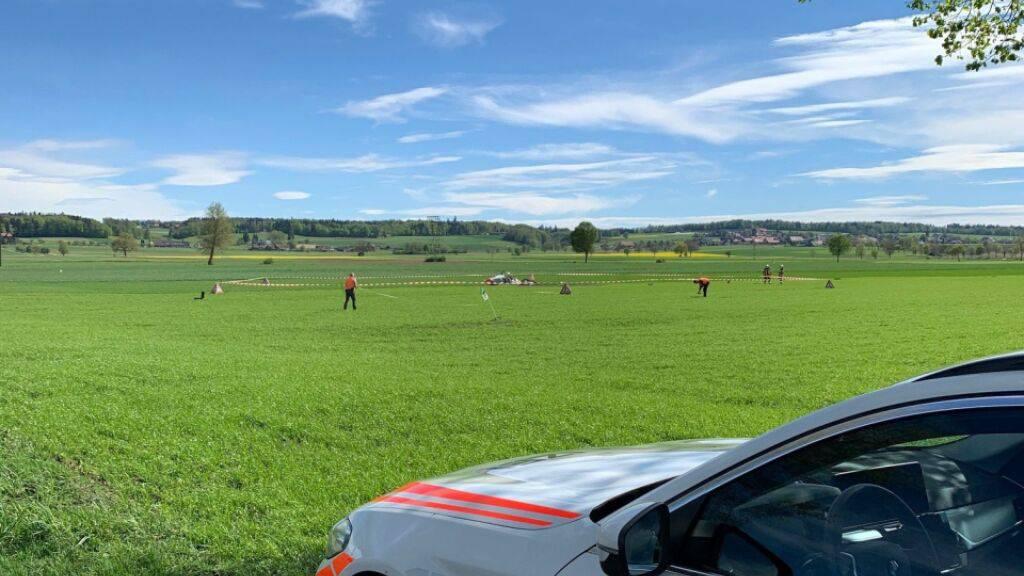 Zwei Männer sterben bei einem Flugzeugabsturz in Oberramsern SO